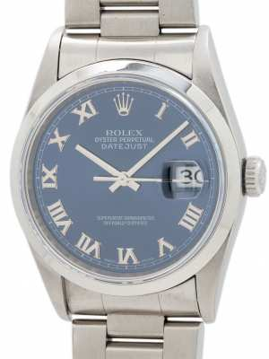 Rolex Datejust ref 16220 Stainless Steel circa 1996