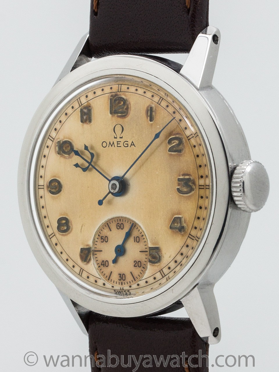 Wanna buy a watch vintage omega ss manual wind model circa 1940 svintage omega ss manual wind for Omega watch vintage