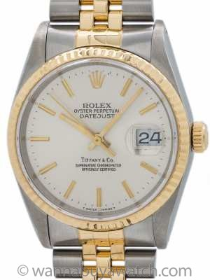 Rolex Datejust Tiffany & Co ref 16233 SS/18K circa 1990