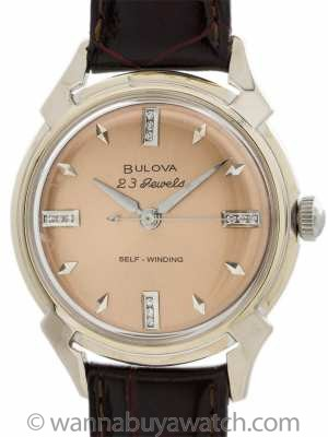 Bulova 14K WG Self Winding circa 1957