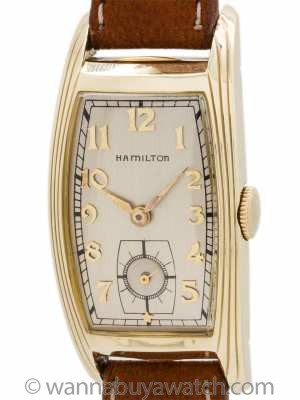 "Hamilton ""Lynwood"" Curvex 14K Gold Filled circa 1939"