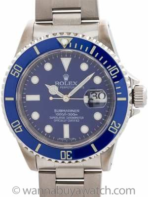 Rolex Submariner ref 16610 Custom Ceramic circa 1998