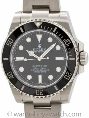 Rolex Submariner ref 114060 Ceramic circa 2016 B & P