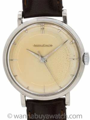 Jaeger Lecoultre Stainless Steel circa 1950's