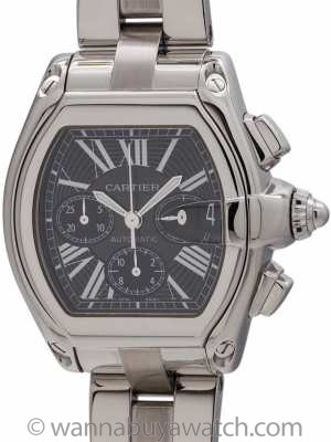 Cartier Roadster Chronograph Stainless Steel circa 2000's