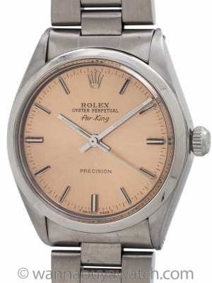 "Rolex Oyster Perpetual Airking ""Antique Salmon"" circa 1970's"