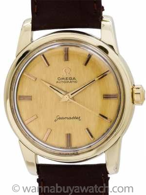 Omega Gold Shell Seamaster Automatic ref 2846 circa 1958