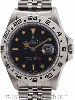 Rolex Explorer II ref 16550 Transitional Model Patina'd Dial circa 1987