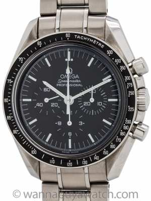 Omega Speedmaster Man on the Moon ref 3570.500 circa 2006 with Cards