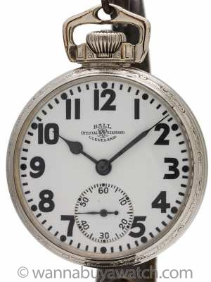 Ball Official Standard Railroad Pocketwatch circa 1918