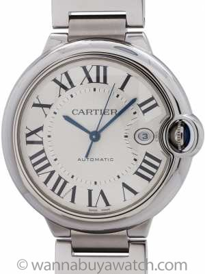 Cartier Ballon Bleu Stainless Steel Man's 42mm circa 2000s