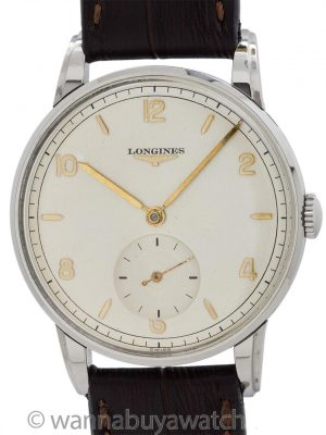Longines Stainless Steel Dress Model circa 1951