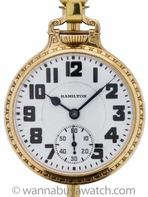 Hamilton Railroad Pocket Watch Caliber 992 circa 1936