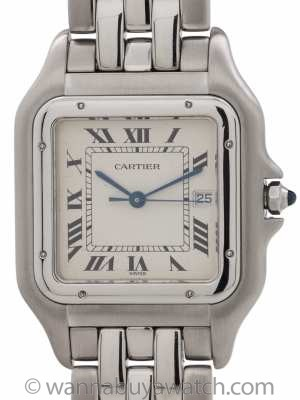 Cartier Panther Man's Stainless Steel Jumbo circa 1990's
