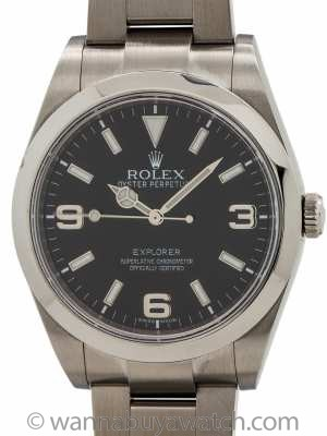Rolex Explorer 1 ref 214270 Stainless Steel 39mm circa 2012 w/ Card