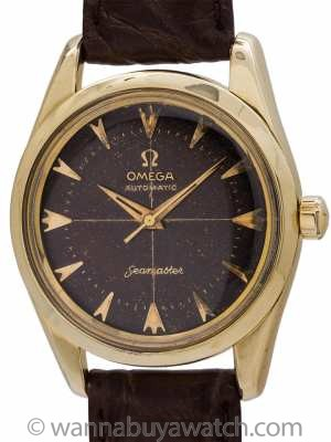 Omega Seamaster Automatic Chocolate Brown Dial circa 1950's