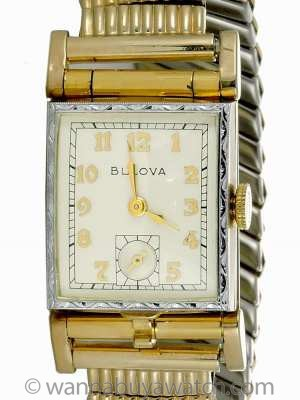 "Bulova Gold Filled ""Photo"" Watch circa 1950's"