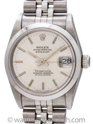 Rolex Midsize Datejust Tiffany & Co ref 68240 circa 1991