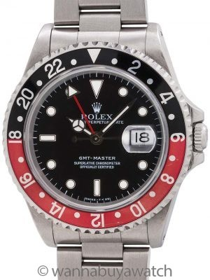 Rolex GMT I ref 16700 Stainless circa 1995