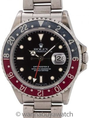 "Rolex GMT II ref 16760 ""Fat Lady"" circa 1986"