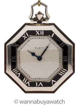Elgin Pocket Watch Art Deco circa 1930's