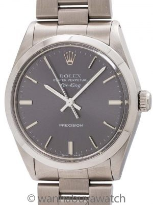 Rolex Oyster Perpetual Airking ref 5500 Gray Dial circa 1988