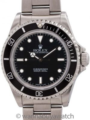 Rolex Submariner ref# 14060 Stainless Steel circa 1996 Box & Papers