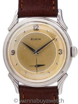 "Elgin Stainless Steel ""LP"" circa 1950's"