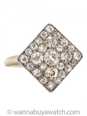Vintage Pave Diamond Cocktail Ring 2.00ct OECs circa 1960s