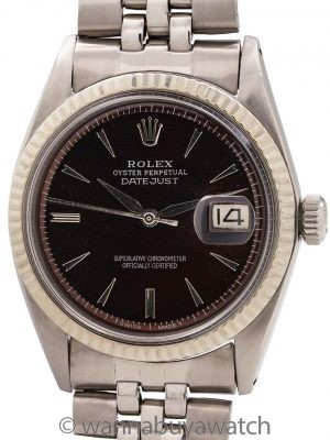 Rolex Datejust ref 1601 SS/14K WG Customized Bronze Dial circa 1963