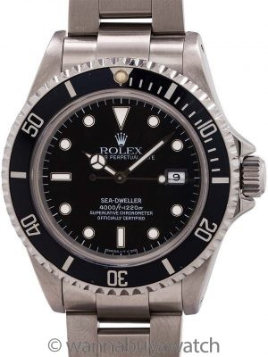 Rolex Sea-Dweller ref # 16600 Tritium Indexes circa 1993
