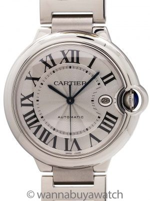 Cartier Ballon Bleu Stainless Steel Man's 42mm circa 2000's