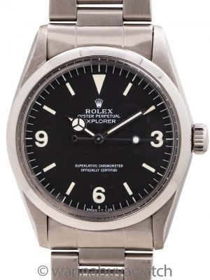 Rolex Explorer 1 ref 1016 Hack Feature circa 1985 Box & Papers