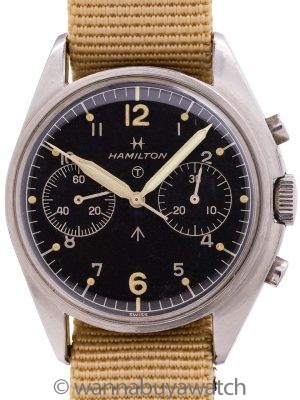 Hamilton British Royal Navy Chronograph circa 1970