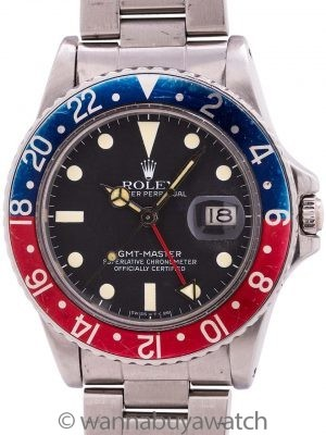 Rolex GMT ref 16750 Transitional Model Matte Dial circa 1981