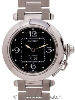 "Cartier Pasha C ""Big Date"" Stainless Steel circa 2000s B & P"
