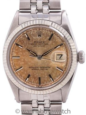 "Rolex Datejust ref 1601 Stainless Steel ""Tropical Peach"" circa 1962"