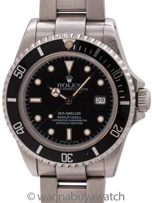 Rolex Sea-Dweller ref # 16600 Tritium Indexes Dial circa 1991