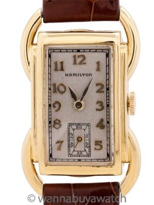 "Hamilton 14K YG ""Bentley"" circa 1939"