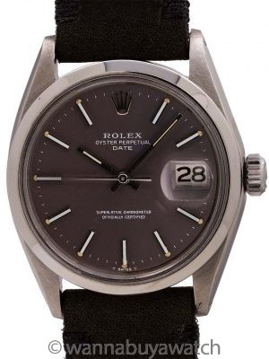 Rolex Oyster Perpetual Date ref 1500 Grey Dial circa 1968