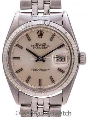 Rolex Datejust Stainless Steel ref 1601 with Booklets & Papers circa 1971