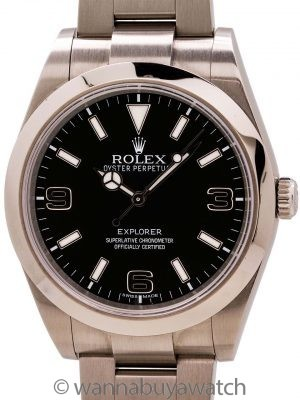 Rolex Explorer 1 ref 214270 Stainless Steel 39mm circa 2015 w/ Box & Papers
