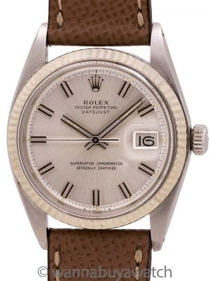 "Rolex Datejust ref 1601 ""Fat Boy"" SS/18K WG circa 1974 (Bezel damage)"