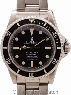 Rolex Submariner ref 5512 Tiffany Dial circa 1972