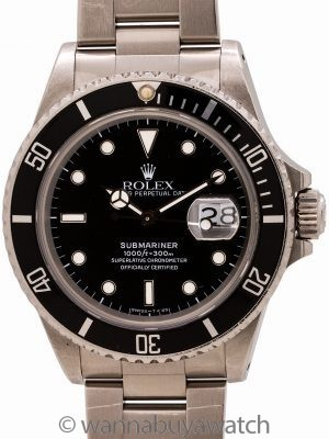Rolex Submariner ref# 168000 Transitional Model circa 1987