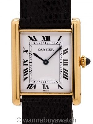 Cartier Man's Tank Louis 18K Gold circa 1980's