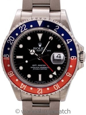 Rolex GMT II ref 16710 w/ Box & Papers circa 2005