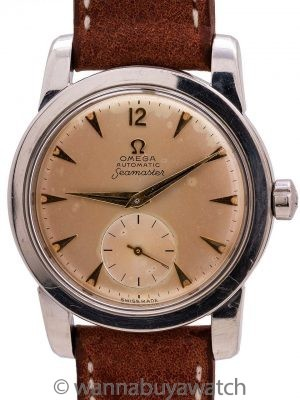 Omega Seamaster Automatic Tropical Dial ref# 2576-4 circa 1952