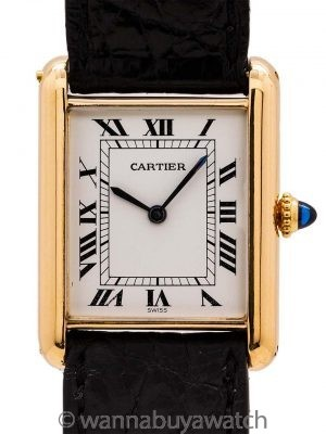 Cartier Man's 18K Gold Tank Louis circa 1990's