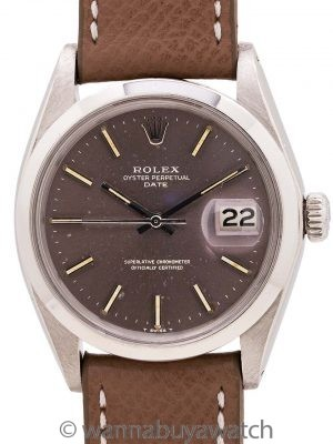Rolex Oyster Perpetual Date ref 1500 Grey Dial circa 1969
